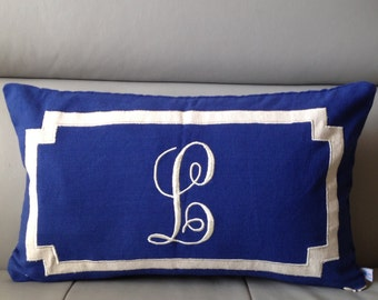 Bridal Unique Gift, Bridal shower gift for her, Best Personalized Gifts, Monogram Lumbar Pillow Cover,  Personalized Monogrammed Pillows