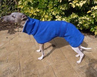 Bespoke Italian Greyhound/Whippet/Greyhound Polo Neck Double Thickness Fleece Coat
