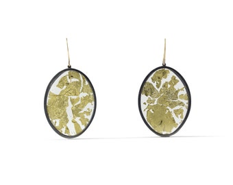 Gold Memento Earrings, Large