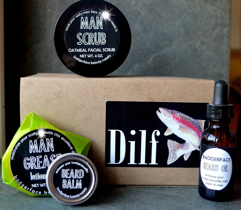 beard balm kit beard balm gift box beard grooming kit dilf. Black Bedroom Furniture Sets. Home Design Ideas