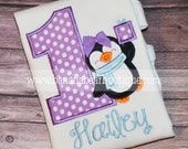 Penguin Winter Wonderland Birthday Shirt