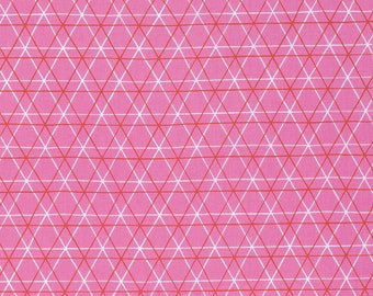 Erin McMorris Fabric by the Yard - Highline - A Line in Rose  - Quilter's Cotton