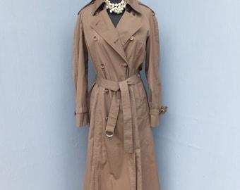 Vintage LONDON FOG Canvas Raincoat or Trench, size 8 Reg