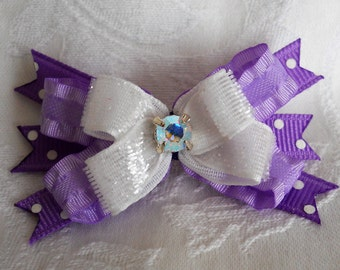 Dog Bows- Lilac Crystal Boutique Dog Bow