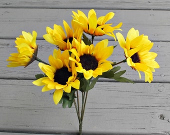 Artificial Sunflowers - Silk Sunflower - Artificial Flower - Craft Supply - Sunflowers - Sunflower Arrangement - Sunflower Wedding - Flower