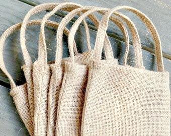 Burlap Bags - Wedding Favor Bags - Burlap Bag - Rustic Wedding - Favor Bags - Gift Bag - Burlap Gift Bag - Wedding Supplies  - Set of 6 Bags