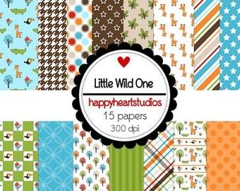 DigitalScrapbook LittleWildOne -INSTANT DOWNLOAD