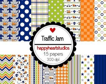 Digital Scrapbook  TrafficJam-INSTANT DOWNLOAD