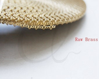 One Meter (3.28 Feet) Raw Brass Gallery Bezel Wire - 4.8mm (1949C-T-283)