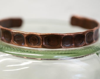 "6 1/4"" recycled copper cuff, medium, copper jewelry, brass, recycled, hammered metal, hammered copper, copper bracelet, stacylynnc, handmade"