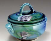 Hand-thrown, High-fired, English Porcelain, One Quart Casserole, John Bauman, SHIPPING INCLUDED