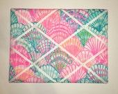 New memo board made with Lilly Pulitzer Multi Oh Shello fabric
