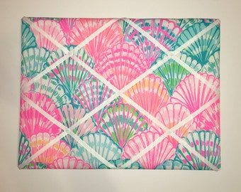 New memo board made with Lilly Pulitzer Multi Oh Shello fabric