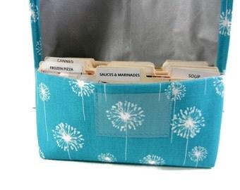 Coupon Organizer, Coupon Holder, Coupon Binder, Coupon Purse, Receipt Holder, Dandelion Fabric
