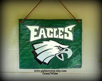 NFL Football Slate Sign/Eagles Hand Painted Decorative Slate Sign/Philadelphia Eagles Football Team Slate Sign/Sports Sign/Eagles Sign
