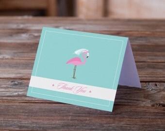 Flamingo Bridal Shower Thank You Notes
