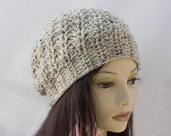 Custom Crochet Hat, Chose Color,  Women's Slouchy Hat, Winter Hat, Slouchy Beanie