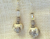 White Morrocan Style Earrings