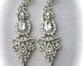 Crystal Wedding Earrings Vintage Bridal Earrings Swarovski Crystal Chandelier Earrings Wedding Jewelry