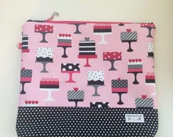 Pink and Black designer cakes Project bag