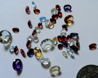 Loose Gemstones,Parcel, 35+ctw, Faceted,Parcel 2,Mixed Shapes, Sizes, Natural
