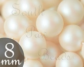 8mm Pearlescent White swarovski pearl beads Style 5810 8mm round beads 8mm beads (25)