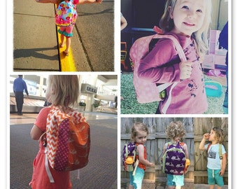 Kids Backpack, Childrens Backpack, Toddler Backpack, Personalized and Custom Option