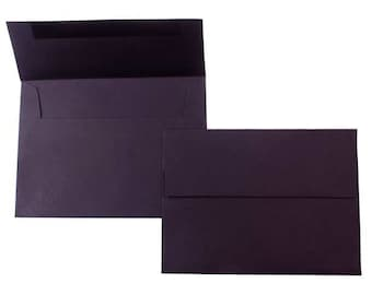 PPEA1BLK  Qty of 50 A1 70 lb.Square Flap Black Envelopes 5 1/8 x 3 5/8 (13.02cm x 9.21cm) 4 Bar