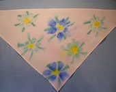 Hand painted with dye bandana tracheostomy stoma cover scarf - with or without velcro closure