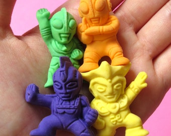 Ultraman Erasers (Set of 4)