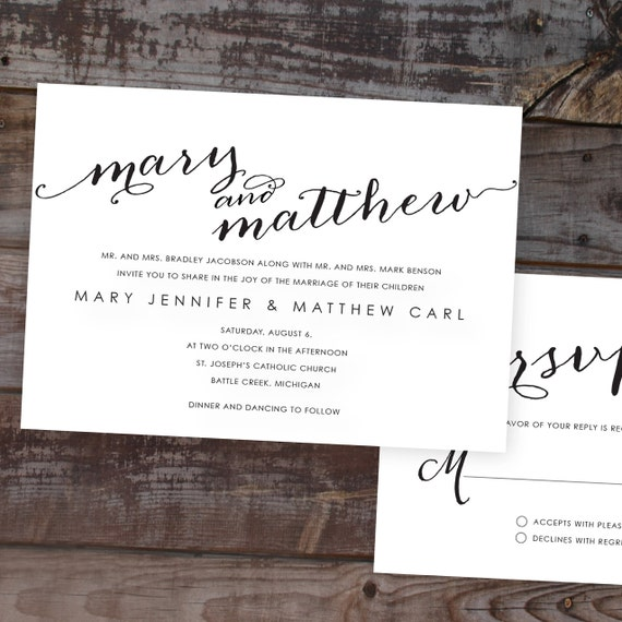 wedding invitations, Unique Wedding Invitations, Calligraphy Wedding ...