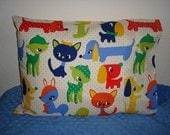 Travel Pillowcase Baby Pillowcase Fits 12 in X 16 in Pillow insert Ready To Ship