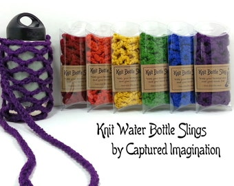 Packaged Water Bottle Slings, Over the Shoulder Beverage Carriers, WHOLESALE QUANTITY DISCOUNT, Packaged for Resale
