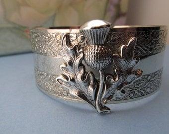 Outlander Jewelry Scottish Thistle Silver Cuff Bracelet Top Selling Shops Top Seller My ElegantThings