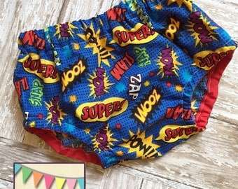 Super Hero Diaper Cover