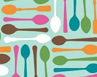 Ampersand Cream and Sugar Tea Time Spoons Fabric