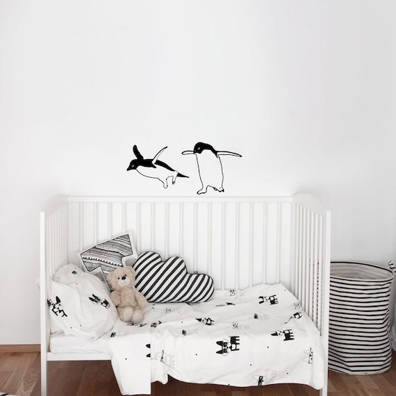 Two Funny Penguins - Wall Decal