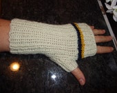 Ivory fingerless mitts