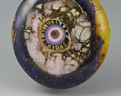 Silent Voice ... glass CABOCHON artsy organic lampwork jewelry designer cabs  by GrowingEdgeGlass/ Mikelene Reusse