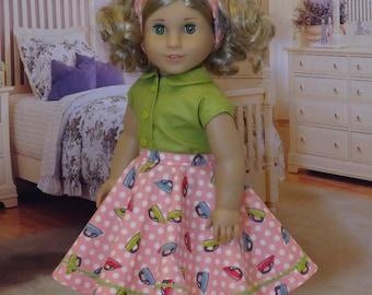 Ironing Day - circle skirt ensemble for American Girl