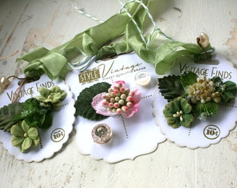 vintage style tags-button card tags