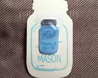 Ball Mason Jar Tie Tack Pin