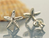 Sterling Silver Starfish Post Earrings - Solid 925 - Insurance Included