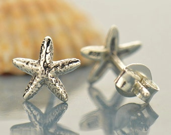 NEW - Sterling Silver Starfish Post Earrings - Solid 925 - Insurance Included