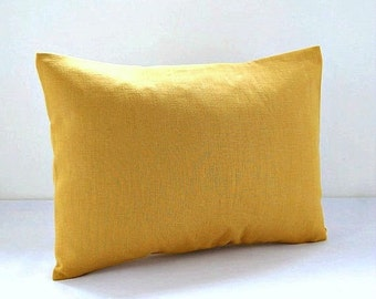 12 x 16 inch mustard accent decorative pillow cover, lumbar cushion cover