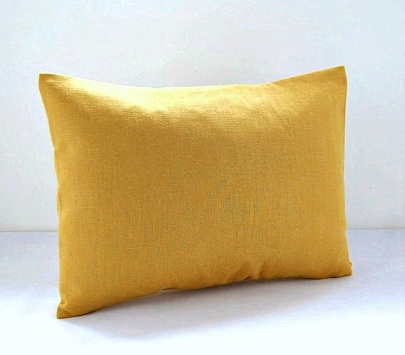 12 x 16 inch mustard accent decorative pillow cover lumbar