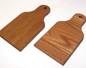 Cheese Board Cutting Board 2 Pak Handcrafted from Oak Hardwood