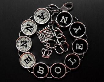 Anne Boleyn Bracelet Tudor Charm Jewelry