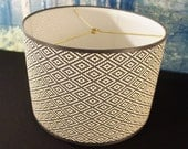 drum lamp shade black and white aztec print