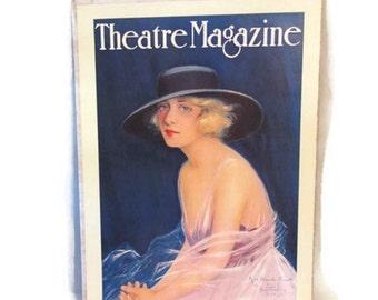 1920 Theatre magazine cover poster - 1970s reproduction - Blanche Sweet - Hamilton King 1918 portrait